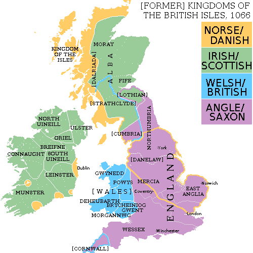 (FORMER) KINGDOMS OF THE BRITISH ISLES, 1066